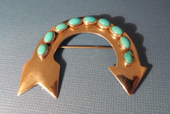 Ella Peter Pin Navajo Turquoise