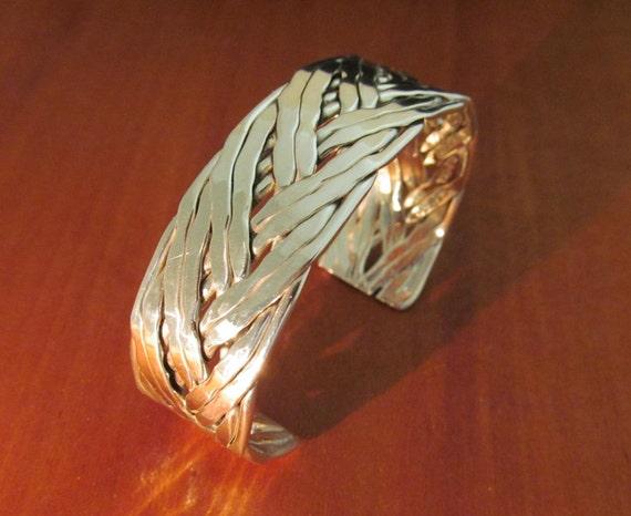 Taxco Woven Bracelet Silver