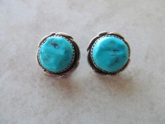 Alvina Quam Earrings Turquoise Silver