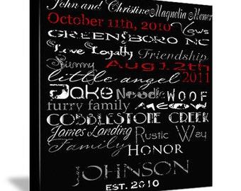 Custom Wedding Anniversary Typography
