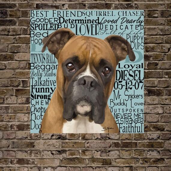 Custom Pet Words Typography