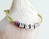 HOPE - Inspirational Corded Adjustable Bracelet