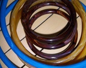 Eight - Plastic - Hoop Rings - Macrame - Handles  - Small, Med. and Large Size