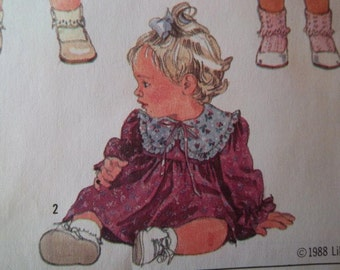 Sale - Vintage - Toddler Party Dress - 1988 -Lillian August   - Simplicity 8767 - Breast 21