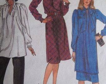Sale - Vintage - Half Size Dress - Tunic - Skirt - Pants - McCall's 7755 -  Bust 43,45,47 Ins.- Uncut Pattern