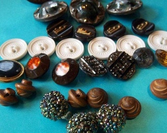 Vintage - Buttons - Thirty Two - Various Sizes and unique designs
