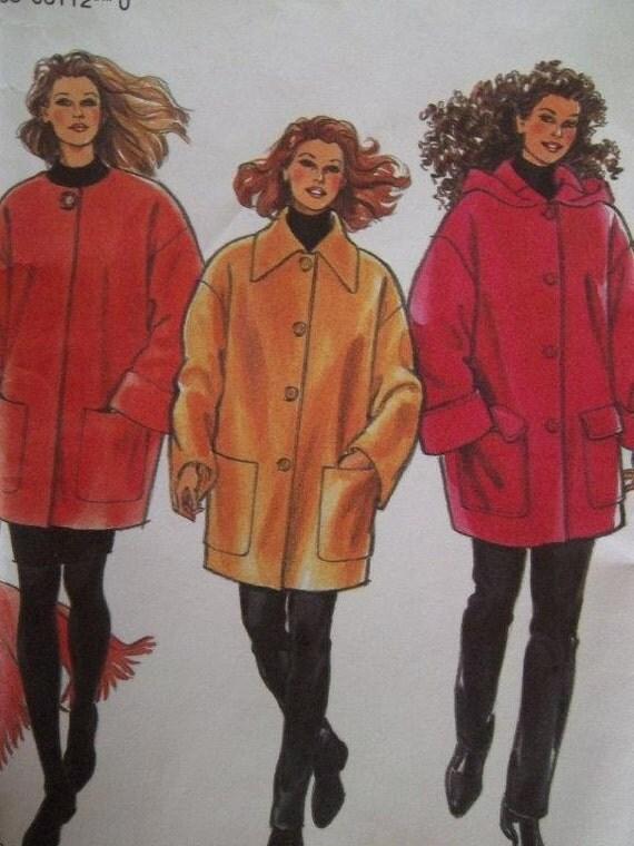 Sale - Three Style Jackets - Scarf - New Look 6112 - Six Sizes 8,10,12,14,16,18 - Uncut Pattern