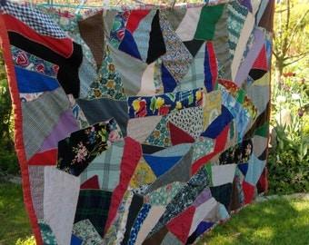 Old patchwork blanket