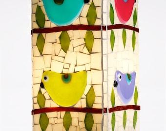 Mosaic Bird Lamp