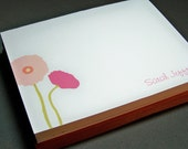 Personalized Poppy Note Cards - Set of 10