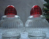 Vintage Pressed Glass Salt & Pepper