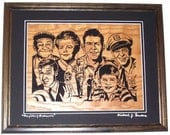 Mayberry Memories, scroll saw art, framed art, wall art--wa1