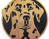 Dalmation dog wall plaque scroll saw cut--17df