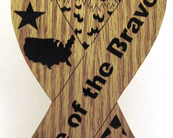 Home of the Brave ribbon scroll saw cut--19p