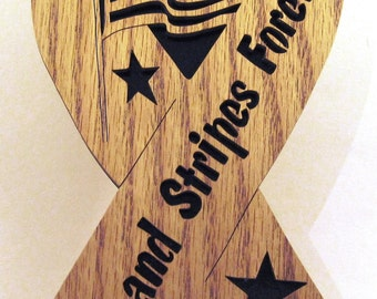 Stars and Stripes Forever Ribbon scroll saw cut--1p