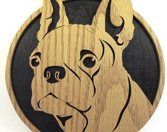 Scroll saw cut Boston Terrier--7df