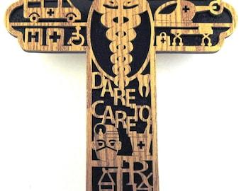 Healthcare cross scroll saw cut--27cr