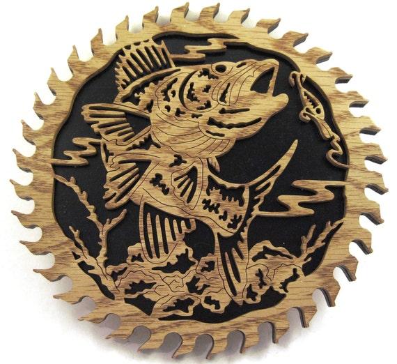 Sawblade with a hungry fish scroll saw cut--10sb
