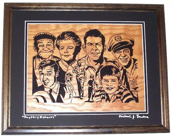 Mayberry Memories, scroll saw art, framed art, wall art--wa1