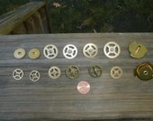14 solid brass  clock gears buy 3 get 1 free