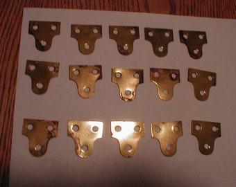 15 solid brass HANGERS
