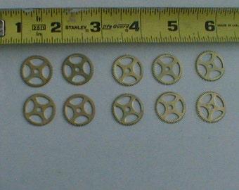 10 13/16 inch  brass gears