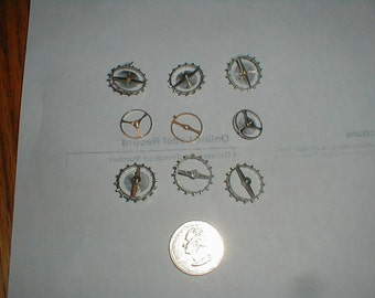 9 balance wheels from clock escapements