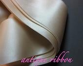 Vintage ribbon antique Edwardian silk Bridal  2 in Cream Y965
