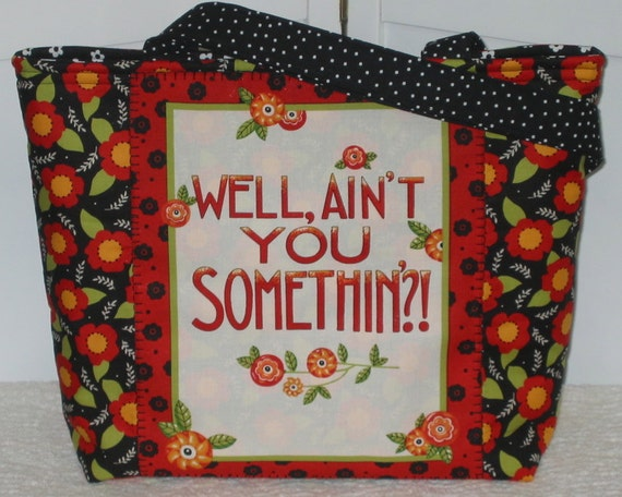 Mary Engelbreit Tote Attitude Girl Well Aint You Something Large Purse Ready To Ship