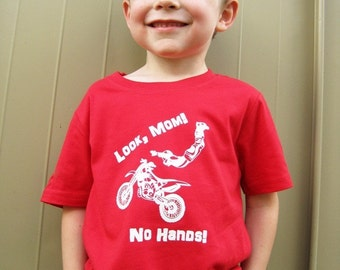 Look Mom, No Hands - Dirt Bike T-Shirt