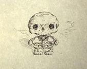 H.K.  Skeleton Print 8x10