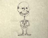 Lucy Skeleton Print 8x10