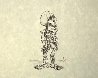 Barney Skeleton Print 8x10