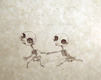 Thingumy & Bob Skeleton Print 8x10