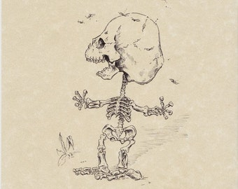 Pigpen Skeleton Print 8x10