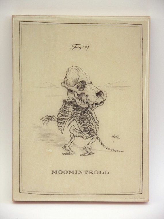 Moomintroll Skeleton (Last one on Panel)
