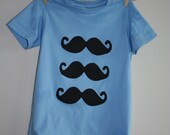 mustache kids tee