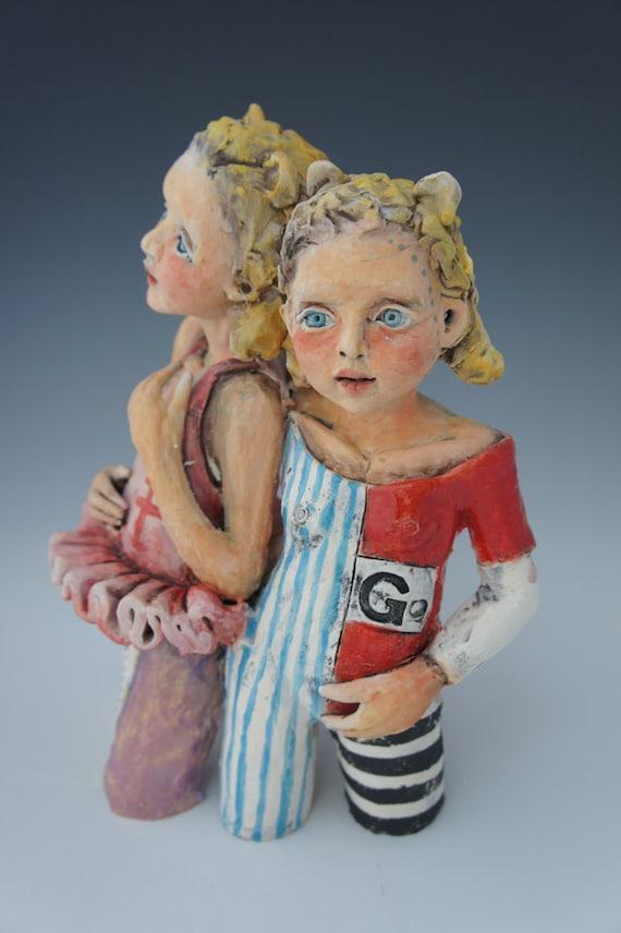 Go free standing ceramic sculpture by artist Victoria Rose Martin