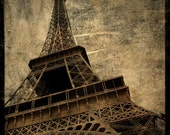 Paris Decor - Eiffel Tower No. 2 - 8 in x 8 in Altered Photograph