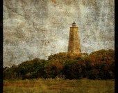Bald Head Island Light No. 1 - 8 in x 8 in Altered Photograph