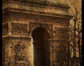 Arc de Triomphe 8 in x 8 in Altered Photograph