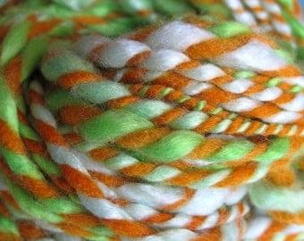 Tencel Sunset -- 2-ply bulky handspun yarn, 40yds