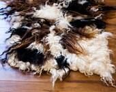 RESERVED for Julie, first payment, Eco Sheepskin rug, no-kill pelt, felt pelt, icelandic wool rug, hand felted