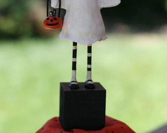 Ghost Girl Trick-or-Treater Figurine