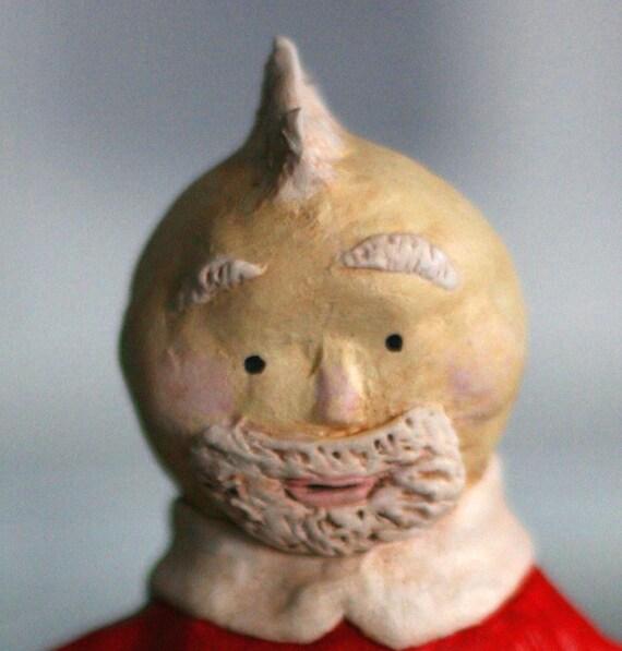 Punk Rock Santa Figurine