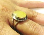 Utah Honey Onyx Ring