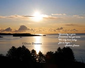 Sunrise fine art photo with a quote from Mother Teresa 8x10 luster print