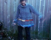 OOAK Made Custom Just for You, Winter Cozy Patchwork Sweater Frock   ...reuse, recycle, upcycle, eco friendly, repurpose