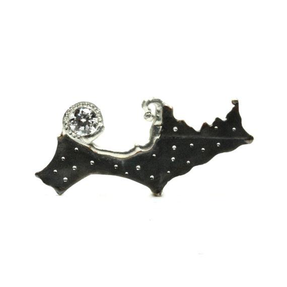 Starry Sky Sterling Silver CZ Brooch - Sternenhimmel