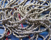 Antique French steel cut beads 2 feet (24 inches) 24 BPI faceted metal beads Victorian restorations 6 grams of high quality  beads